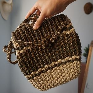 Handbags - Vintage Woven Basket Backpack